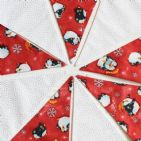 Christmas Penguins on Ice 9 Pennant String (Price Inc P&P)